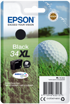 Epson atrament WF-3720 black XL 16.3ml - 1100str.