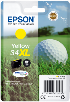 Epson atrament WF-3720 yellow XL 10.8ml - 950str.