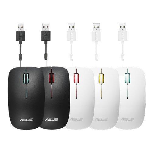 ASUS MOUSE UT300 Wired - optická drôtová myš; bielo-červená