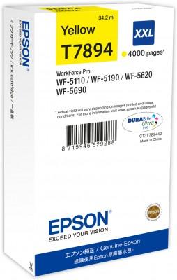 Epson atrament WF5000 series yellow XXL - 34.2ml