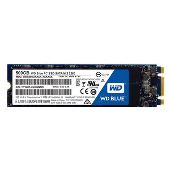 WD Blue 500GB SSD SATA III 6Gbs, M.2 2280, ( r550MB/s, w525MB/s )