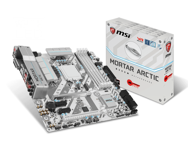 MSI B250M MORTAR ARCTIC/Socket 1151/DDR4/USB3.1/DVI-D/HDMI/DP/I219-V/mATX