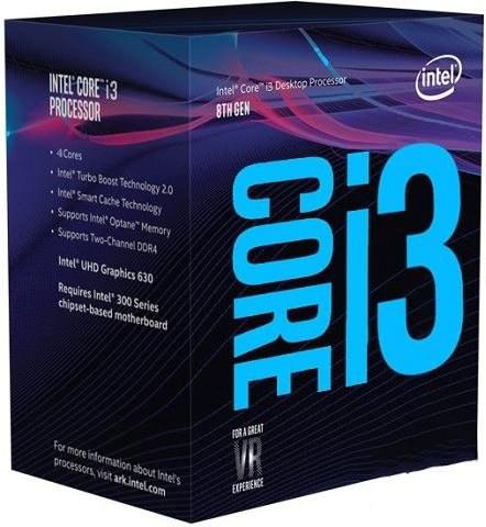 Intel® Core™i3-8100 processor, 3,60GHz,6MB,LGA1151 BOX