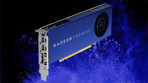 AMD Radeon Pro WX 3100 Workstation Graphics 4GB/128bit GDDR5 2x mDP, 1x DP, LP