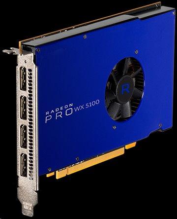 AMD Radeon Pro WX 5100 Workstation Graphics 8GB/256bit GDDR5 4x DP