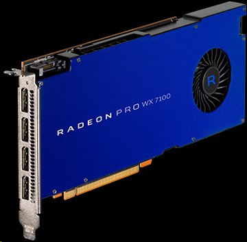 AMD Radeon Pro WX 7100 Workstation Graphics 8GB/256bit GDDR5 4x DP
