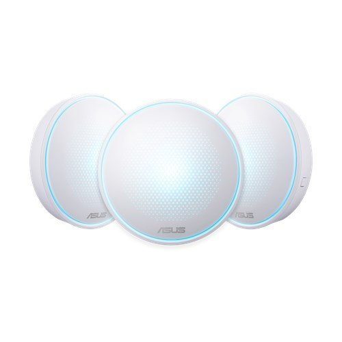 ASUS Lyra (MAP-AC2200) 3-pack Complete Home Wi-Fi Mesh System Wireless-AC2200 Tri-band
