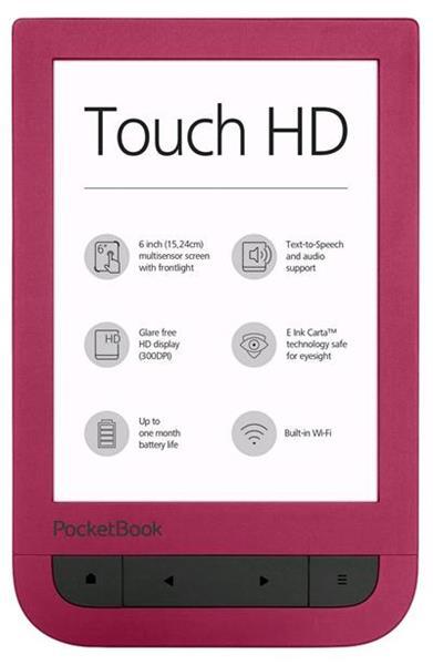 E-book POCKETBOOK 631 Touch HD, červený