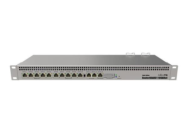 MIKROTIK RouterBOARD 1100AHx4 + L6(1,4GHz, 1GB RAM, 13x GbitLAN, SSD 60GB) rack