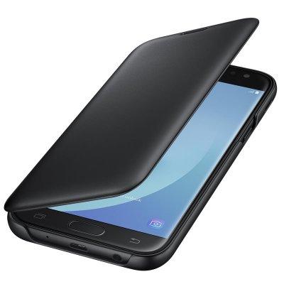 Samsung lipové puzdro s vreckom pre Galaxy J5 2017, Čierne