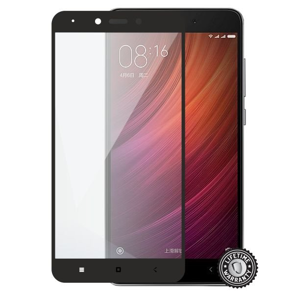 Screenshield XAIOMI Redmi Note 4 Tempered Glass protection (full COVER black) - Film for display protection