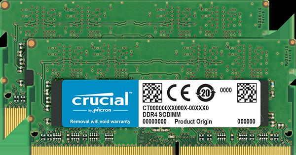 16GB DDR4 2400 MT/s (PC4-19200) CL17 SR x8 Crucial Unbuffered SODIMM 260pin