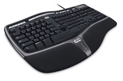 Klavesnica kabel Natural Ergo Keyboard 4000 USB English Black cierna