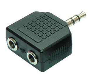 Redukcia audio jack 3,5M - 2x jack 3,5 F