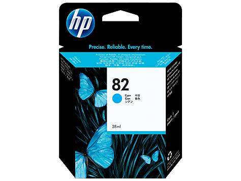 HP No. 82 Cyan Ink Cartridge (69 ml)