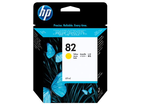 HP No. 82 Yellow Ink Cartridge (69 ml)