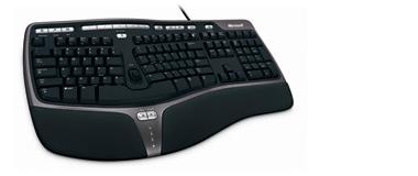 Klavesnica kabel Natural Ergo Keyboard 4000 USB Czech Black cierna