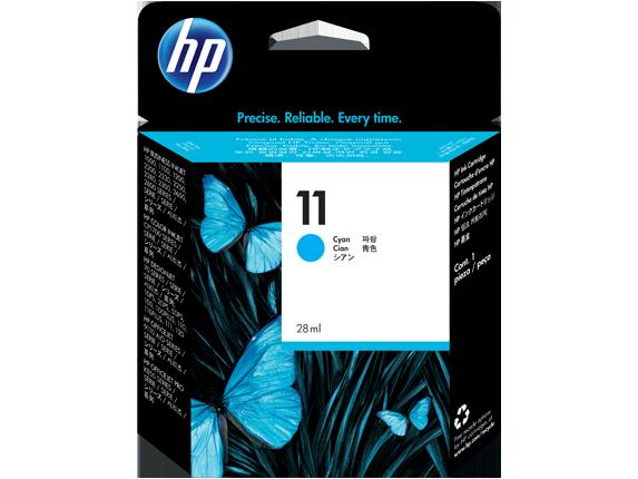 HP No. 11 Cyan Ink Cartridge (28 ml) (1750strán)