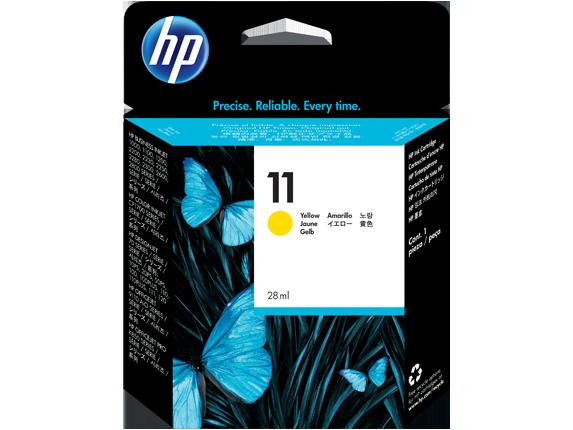 HP No. 11 Yellow Ink Cartridge (28 ml) (1750strán)