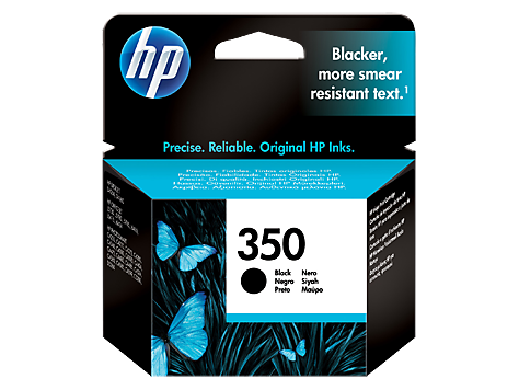 HP 350 Black Inkjet Print Cartridge with Vivera Ink