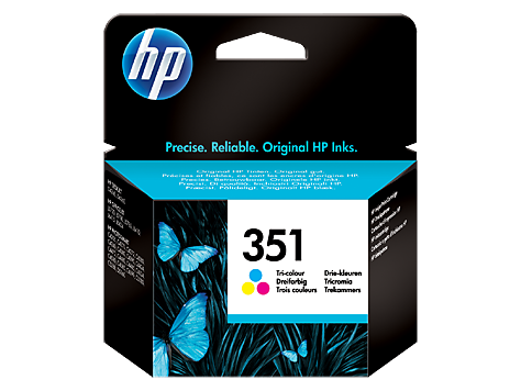 HP 351 Tri-colour Inkjet Print Cartridge with Vivera Inks