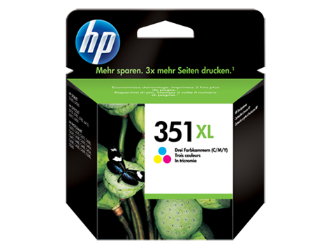 HP 351XL Tri-colour Inkjet Print Cartridge with Vivera Inks