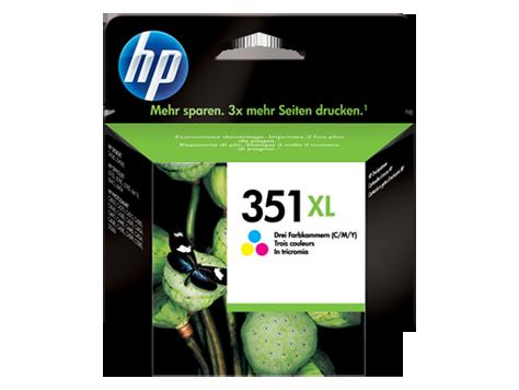HP 351XL Tri-colour Inkjet Print Cartridge with Vivera Inks
