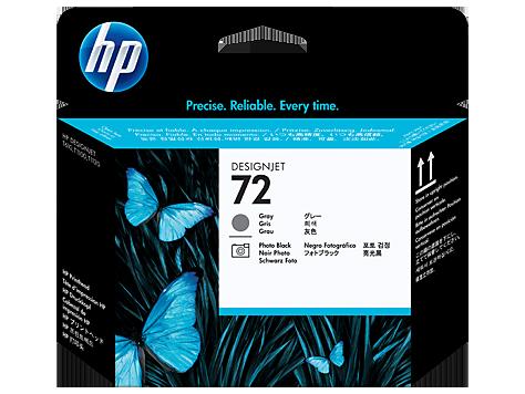 HP 72 Grey and Photo Black Printhead