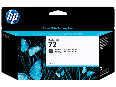 HP 72 130 ml Matte Black Ink Cartridge with Vivera Ink