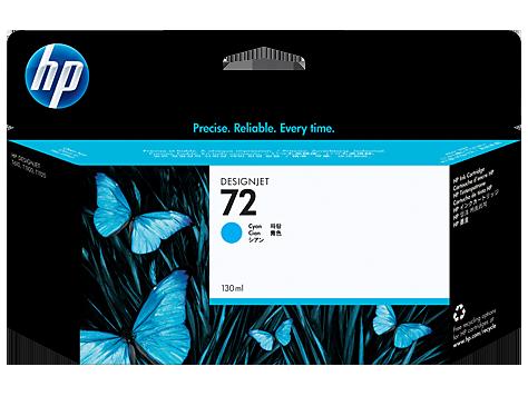 HP 72 130 ml Cyan Ink Cartridge with Vivera Ink