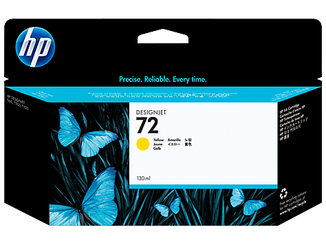 HP 72 130 ml Yellow Ink Cartridge with Vivera Ink