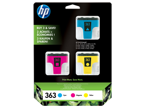 HP 363 Ink Cartr. 3-pack Vivera Inks (cyan magent yellow)