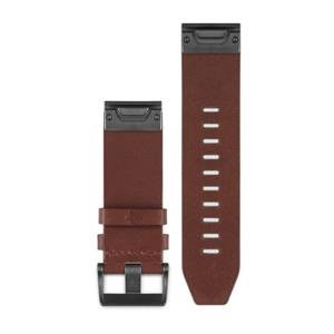 Kožený remienok QuickFit™ 22 na zápästie pre fénix 5 a Forerunner 935 - hnedý (ND)