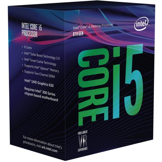 Intel® Core™i5-8400 processor, 2,80GHz,9MB,LGA1151 BOX, HD Graphics 630