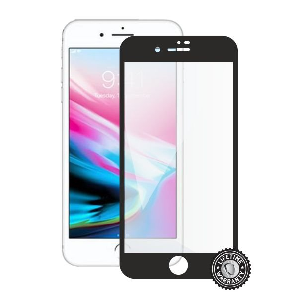 Screenshield APPLE iPhone 8 Plus Tempered Glass Protection (full COVER black) - Film for display protection