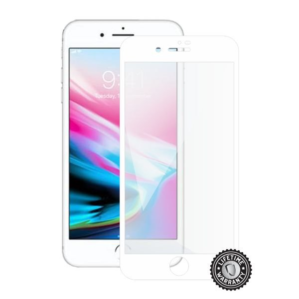 Screenshield APPLE iPhone 8 Plus Tempered Glass Protection (full COVER white) - Film for display protection