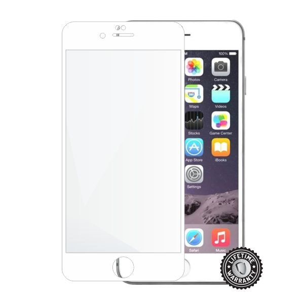 Screenshield APPLE iPhone 6 Plus/6S Plus Tempered Glass protection (full COVER white) - Film for display protection