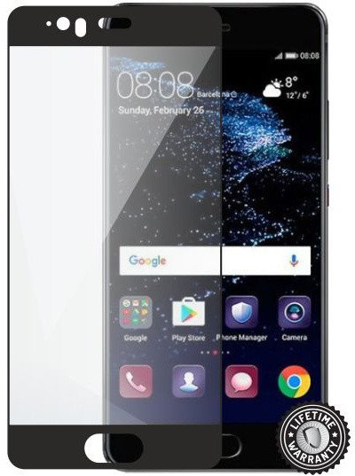 Screenshield HUAWEI P10 Plus Tempered Glass protection (full COVER black) - Film for display protection