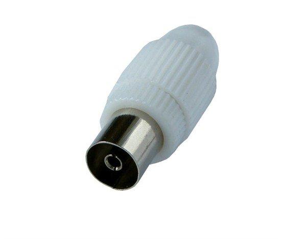 Solight anténny COAX zdierka priama, 10ks, sáčok