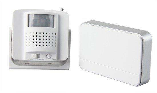 Solight bezdrôtový hlásič pohybu/gong, externé PIR čidlo, napájanie batériami, biely