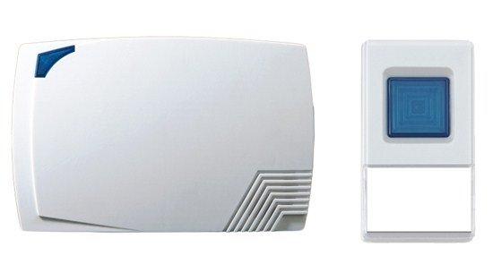 Solight bezdrôtový zvonček, batériový, 80m, biely
