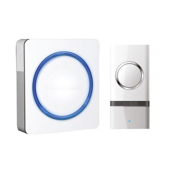 Solight bezdrôtový zvonček, do zásuvky, 120m, biely