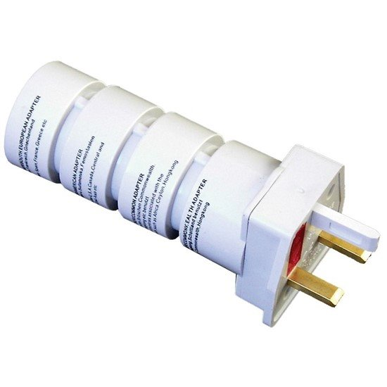 Solight cestovný adaptér, skladacie, biely