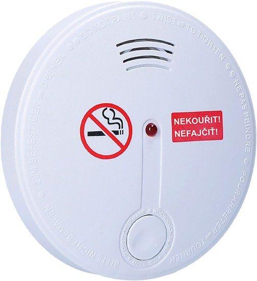 Solight detektor cigaretového dymu + alarm, 85dB, biely + 9v batéria