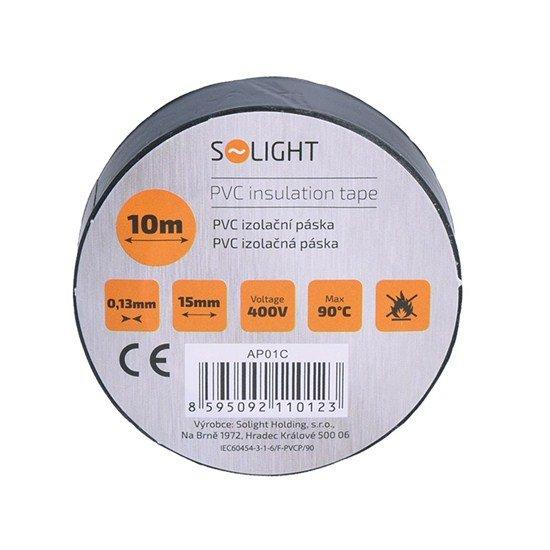 Solight izolačná páska, 15mm x 0,13mm x 10m, čierna