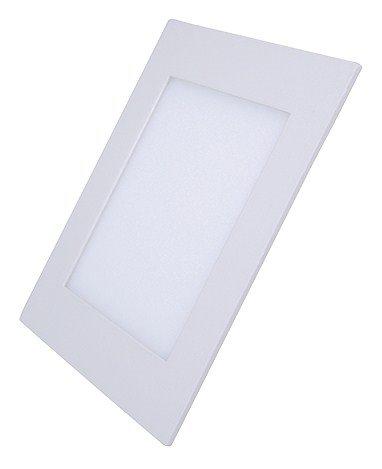 Solight LED mini panel, podhľadový, 6W, 400lm, 3000K, tenký, štvorcový, biely