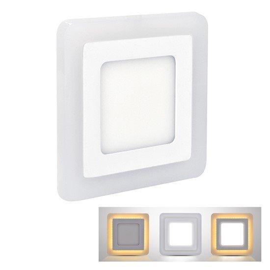 Solight LED podsvietený panel, podhľadový, 12W + 4W, 900lm, 4000K, štvorcový