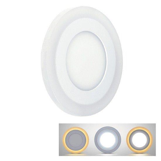 Solight LED podsvietený panel, podhľadový, 18W + 6W, 1530lm, 4000K, guľatý