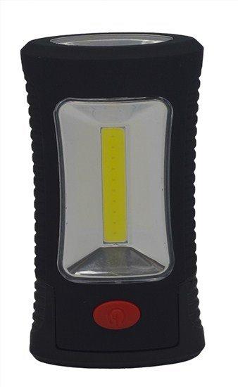 Solight LED svietidlo pracovné, 3W COB + 3 SMD LED, háčik + magnet, 3 x AAA