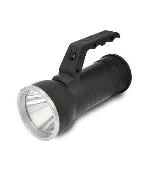 Solight LED svietidlo, 2v1, 3W CREE + 6x SMD LED, čierna, 3 x AA